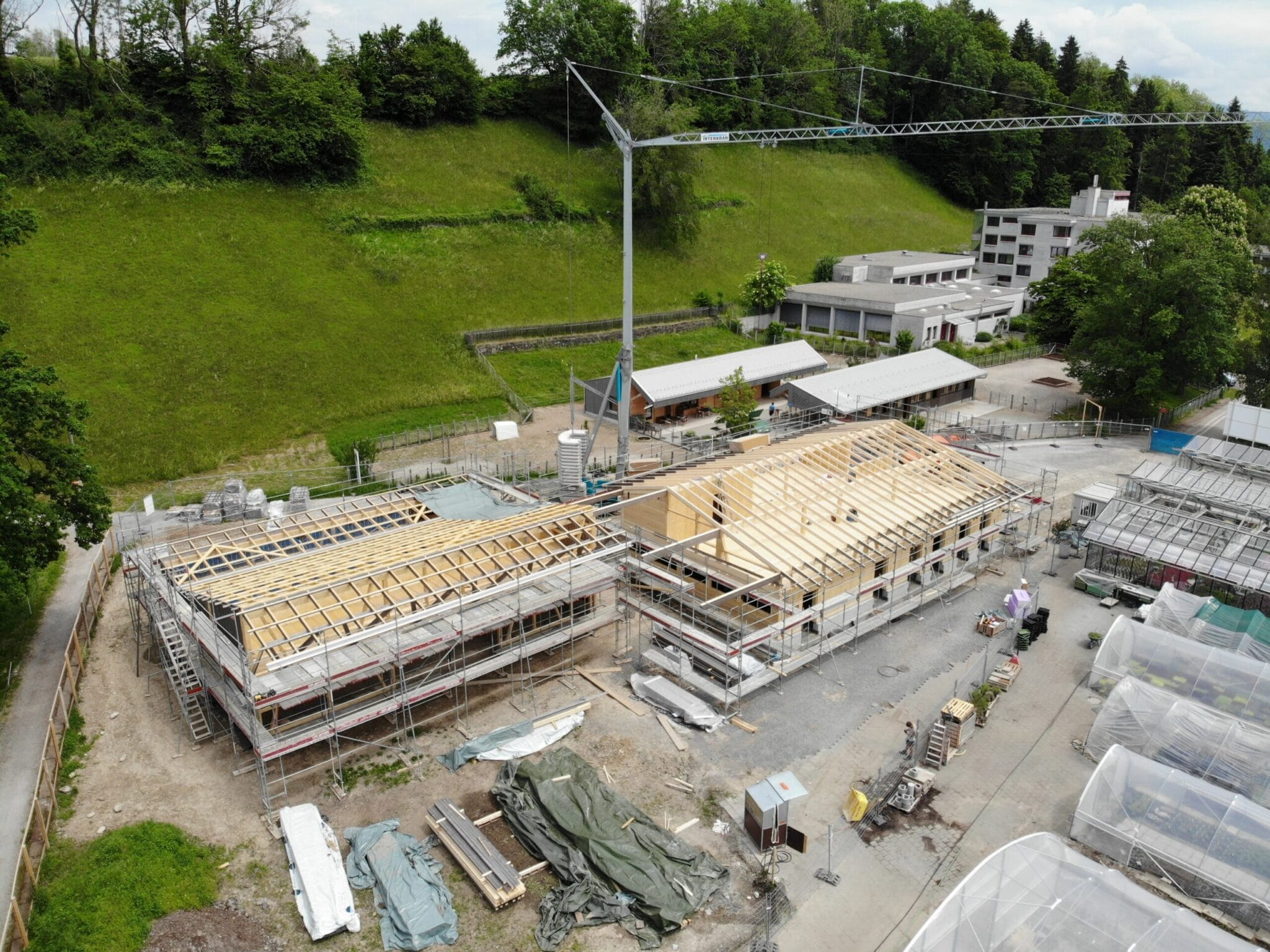 Neubau Ökonomiegebäude Stiftung Balm in Jona - Baujahr 2021
