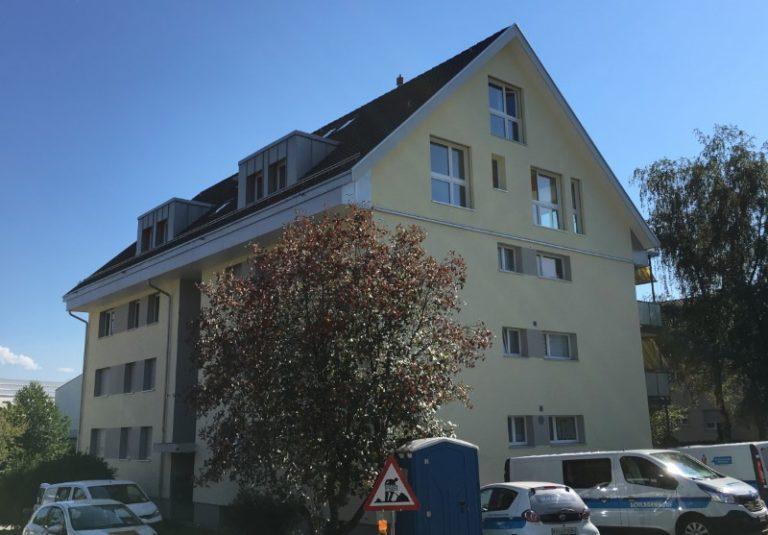 Holzelementbau Aufstockung MFH in Grüningen