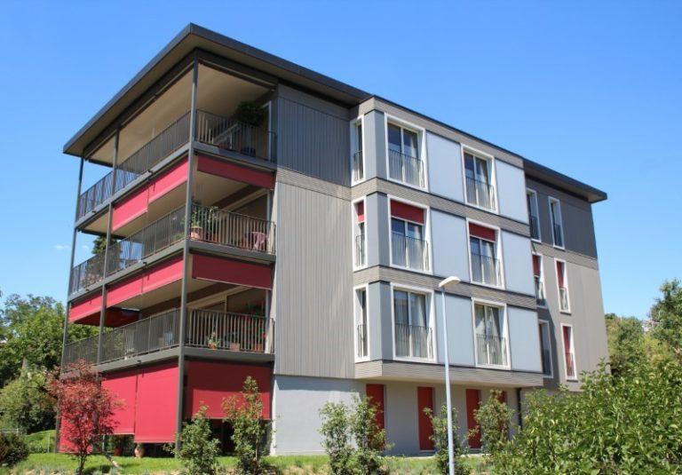 Neubau MFH in Küsnacht Holzelementbau und Holzfassade