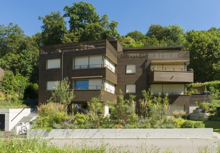 Holzelementbau und Holzfassade Wohnungen in Zürich