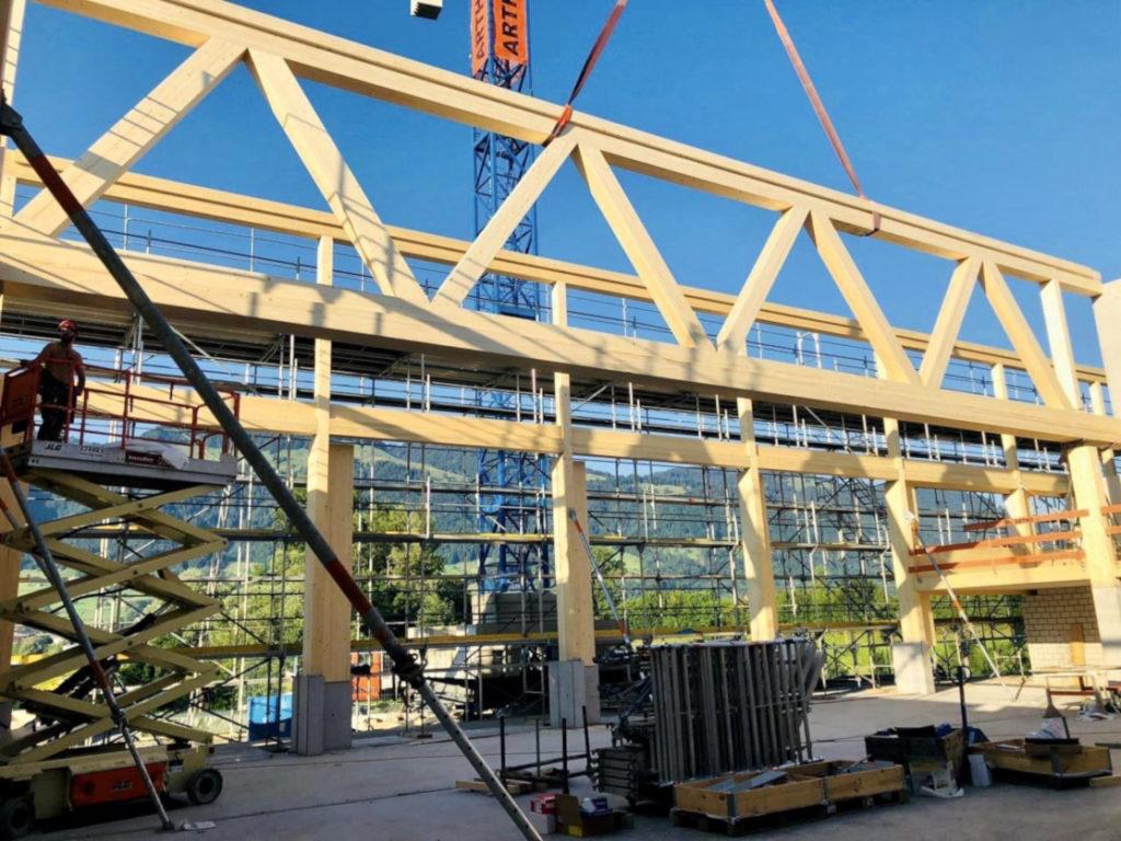 Holzelementbau, Ingenieurholzbau, Holzfassade