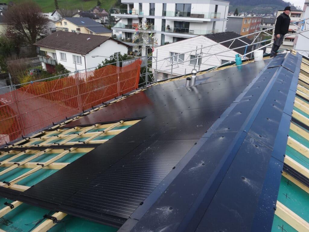 Solar Montage Inbetriebnahme