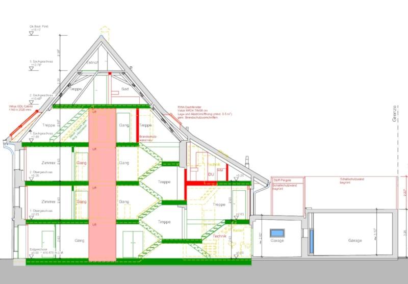 Neubau Mutterkuhlaufstall mit Heuraum in Ermenswil - Baujahr 2021