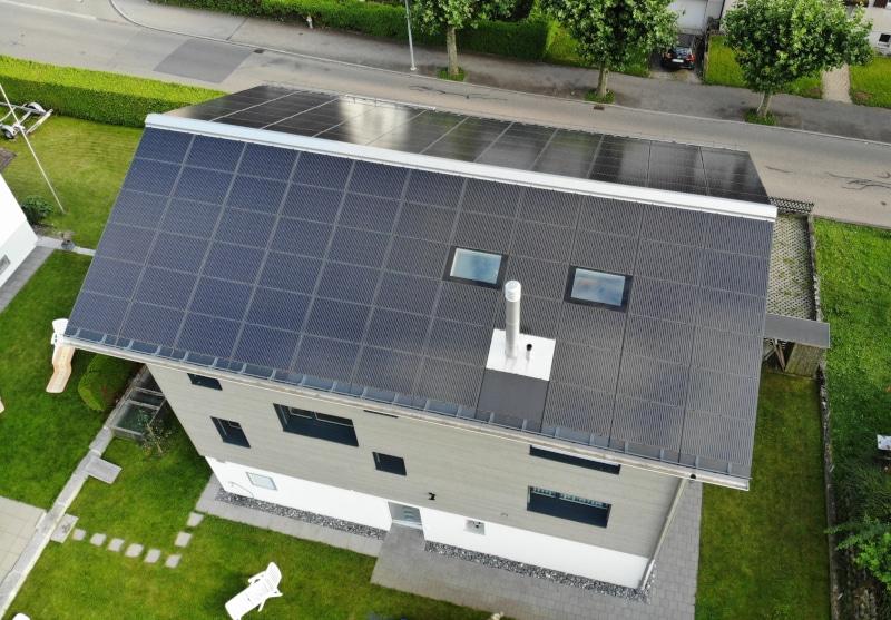 Photovoltaik-Anlage auf EFH in Rapperswil