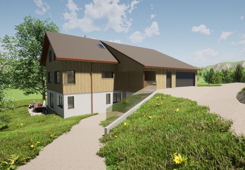 Ersatzbau EFH mit Scheune in Oberiberg - Baujahr 2022